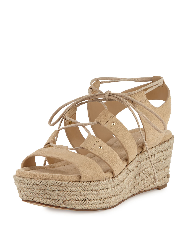 63c2868e6034 MICHAEL Michael Kors Sofia Lace-Up Mid-Wedge Sandal