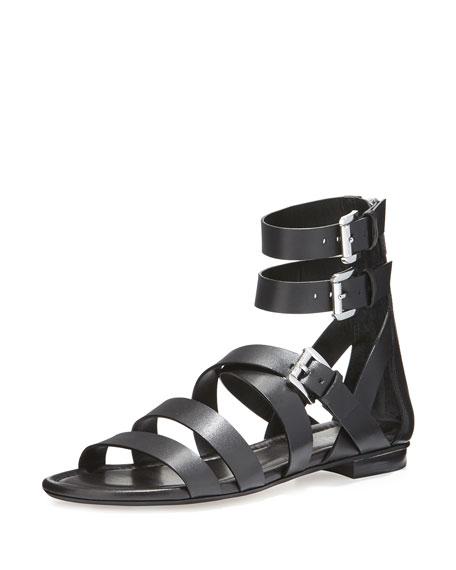 MICHAEL Michael Kors Jocelyn Strappy Flat Leather Sandal,