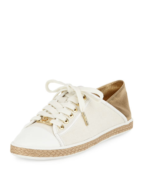 MICHAEL Michael Kors Kristy Lace-Up Low-Top Sneaker, Pale