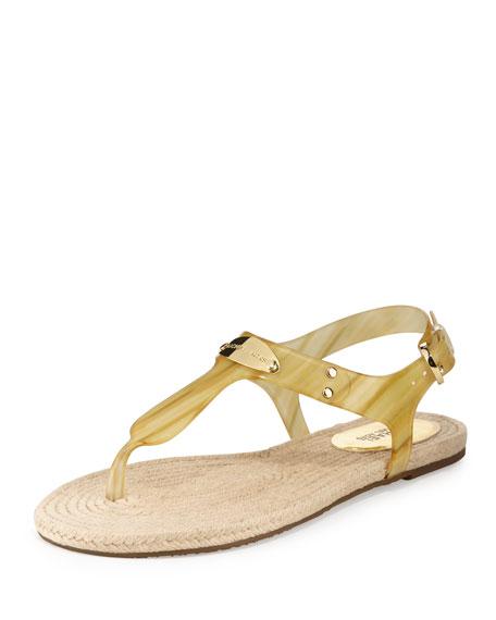 MICHAEL Michael Kors Hazel Flat Jelly Thong Sandal,