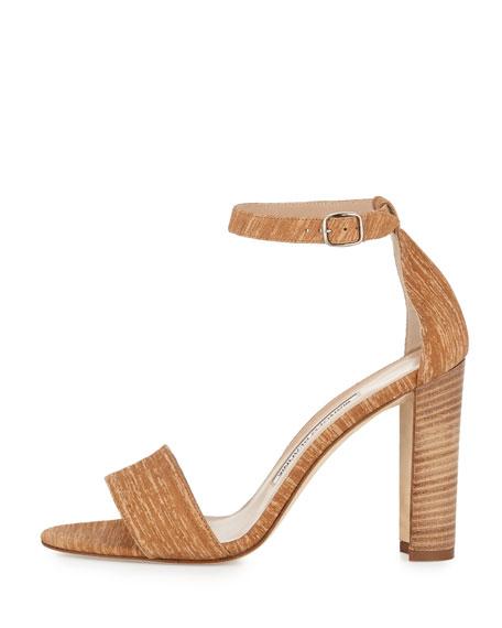 Lauratopri Ankle-Wrap 105mm Sandal, Beige