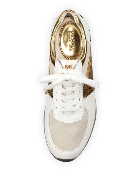 60f262595c29 MICHAEL Michael Kors Allie Mixed-Media Trainer Sneaker