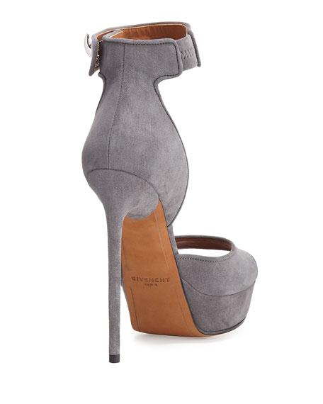 Plara Shark-Lock Sandal, Dark Gray