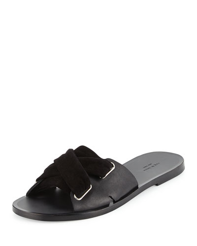 Nora Leather Corset Sandal, Black