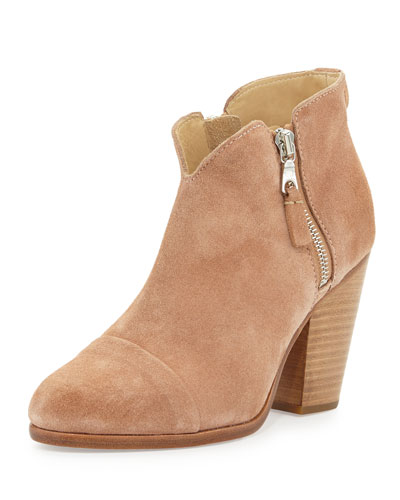 Margot Suede Ankle Boot, Macaroon