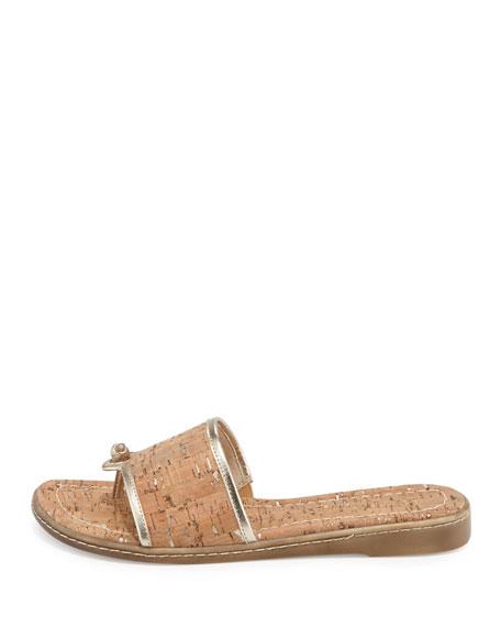Giaa Cork Thong Sandal, Platino
