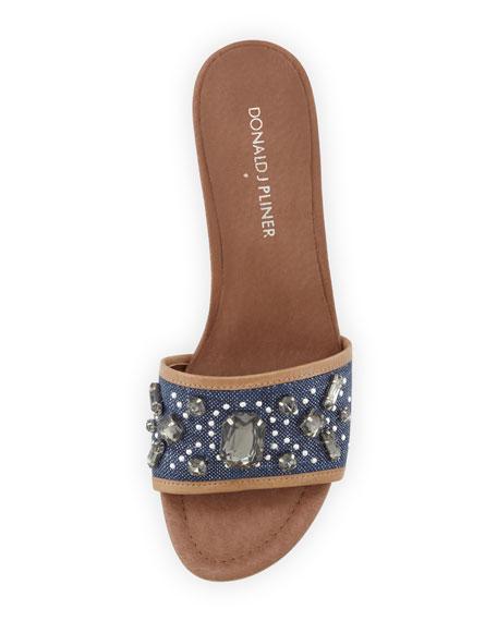 701e75ae2b7a Donald J Pliner Maxx Jeweled Low-Heel Slide Sandal