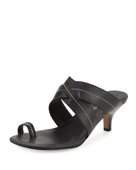 Donald J Pliner Reio Leather Crisscross Slide Sandal,