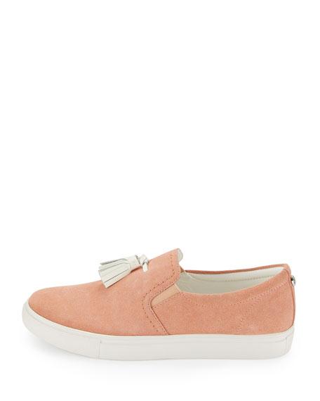 Sonora Suede Tassel Sneaker, Peach