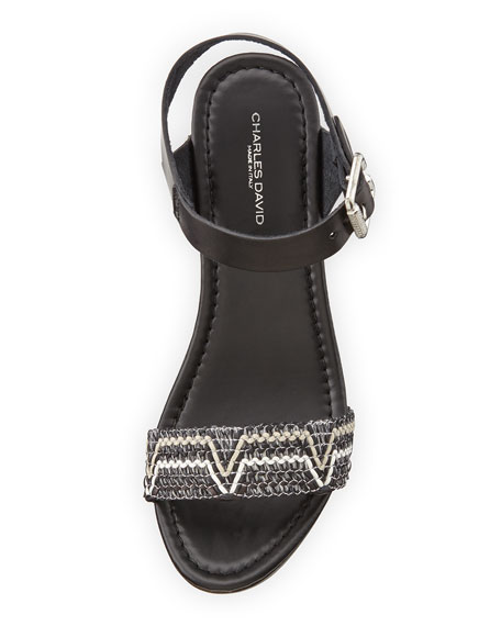 Cola Open-Toe Platform Sandal, Multi/Nero