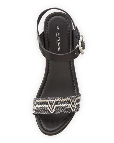Cola Open-Toe Platform Sandal, Multi/Nero