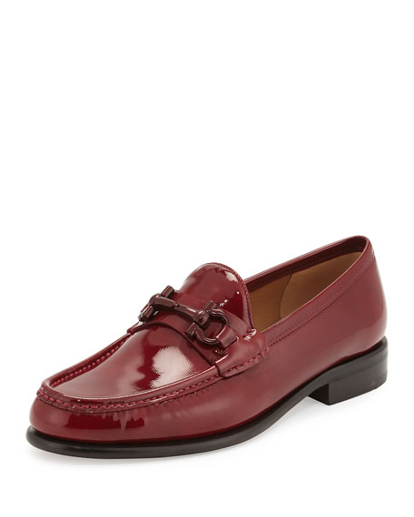 Salvatore Ferragamo Mason Patent Leather Loafer, Opera Red