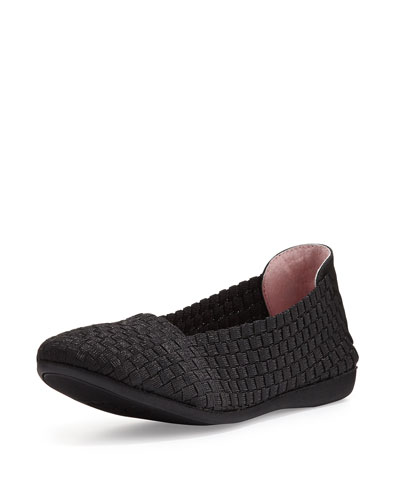 Belicia Stretch-Woven Flat, Black