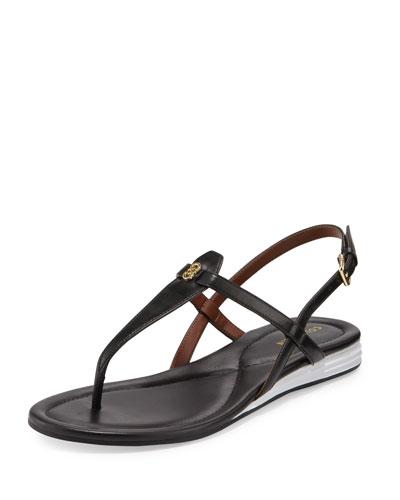 Violette II Leather T-Strap Sandal, Black