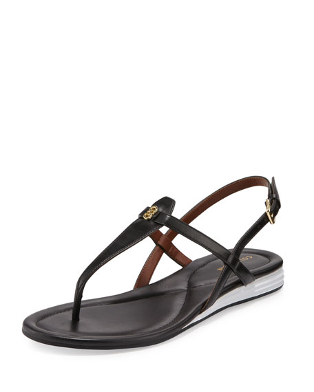 Cole Haan Violette II Leather T-Strap Sandal, Black