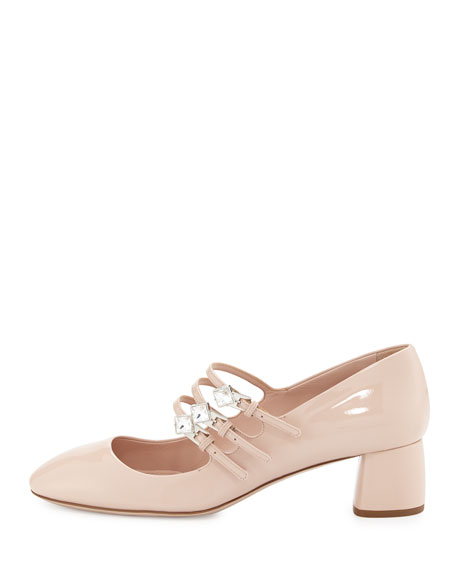 Patent 45mm Mary Jane Pump, Cipria