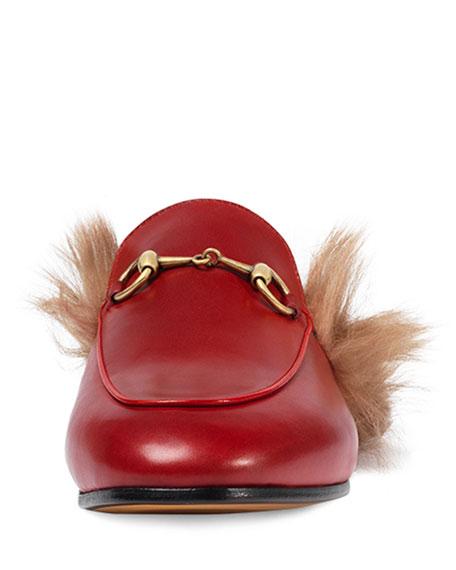 Princetown Fur-Lined Mule, Red