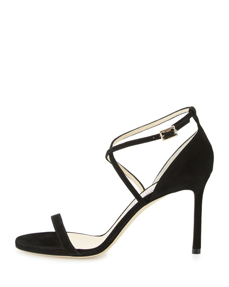 Image 2 of 4: Hesper Strappy 85mm Sandal, Black