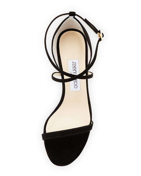 Image 3 of 4: Hesper Strappy 85mm Sandal, Black