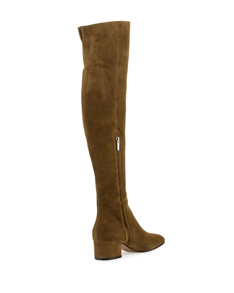 Gianvito Rossi Rolling Mid 45mm Over-the-Knee Boot, Military