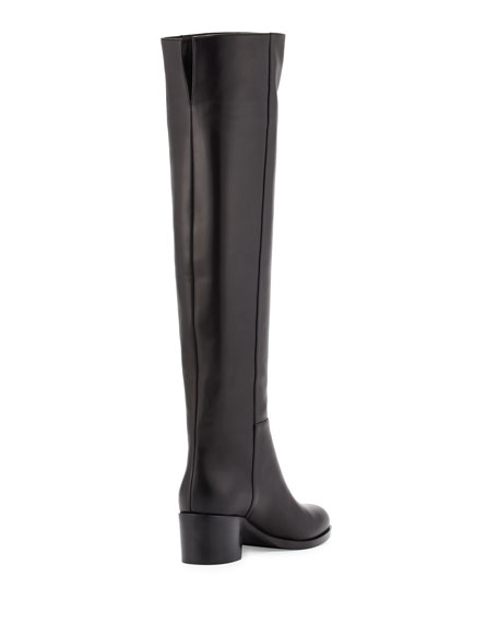 VIP Leather Over-The-Knee Boot, Black