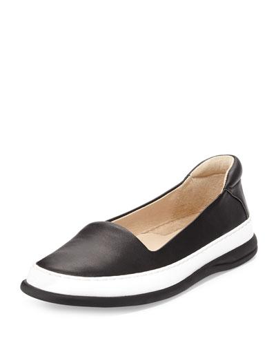 Fressa Leather Slip-On Sneaker, Black