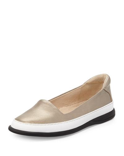 Fressa Leather Slip-On Sneaker, Quartz
