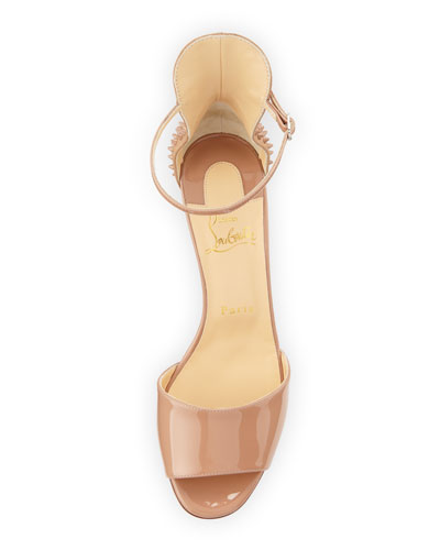 price of christian louboutin shoes - christian louboutin mini stud patent leather ankle-strap sandals ...
