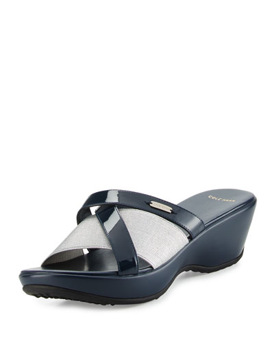Margate II Crisscross Wedge Sandal, Blazer Blue