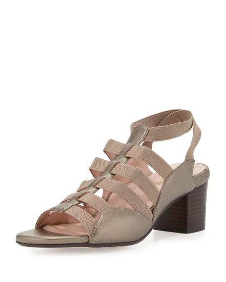 Taryn Rose Reesa Caged Chunky-Heel Sandal, Quartz