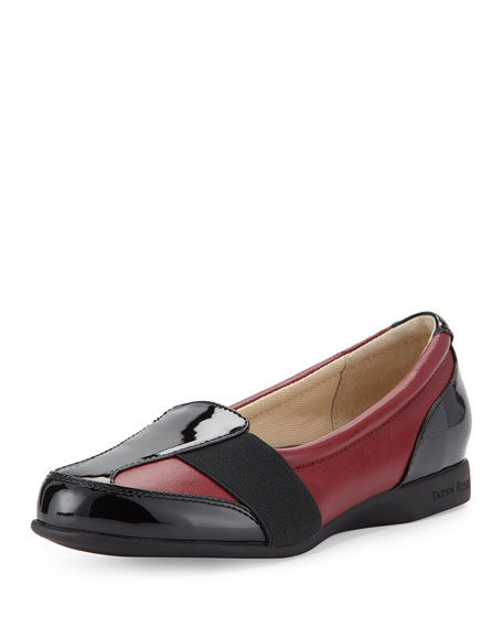 Taryn Rose Taurus Leather Slip-On Sneaker, Red/Black
