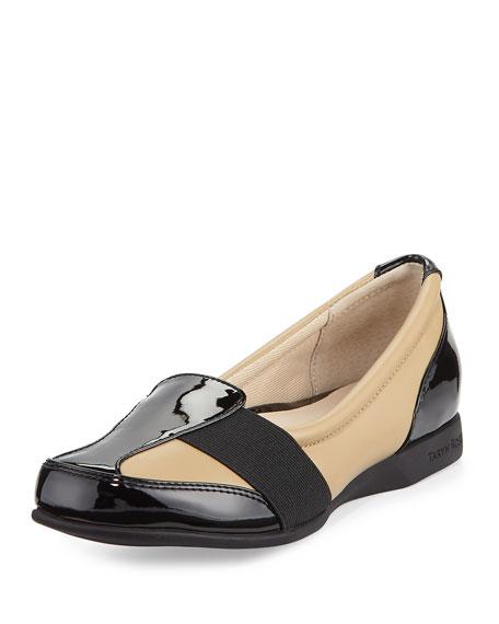 Taryn Rose Taurus Leather Slip-On Sneaker, White/Black