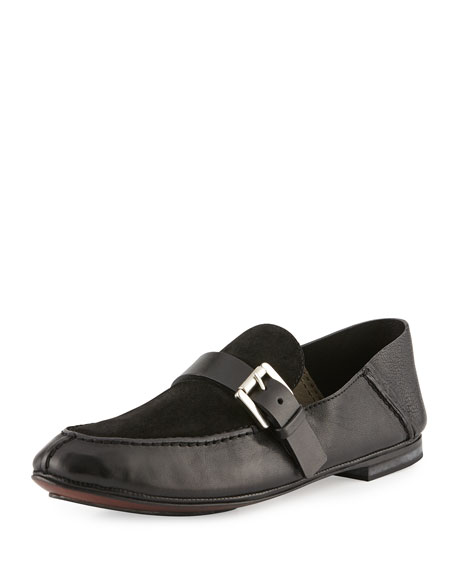 CoSTUME NATIONAL Suede & Leather Loafer, Black