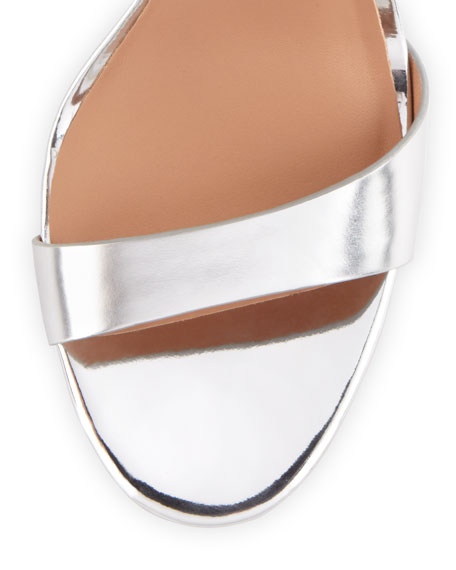 Halston Heritage Ainsley Mirrored-Leather Sandal 79ac61a2fc6f9