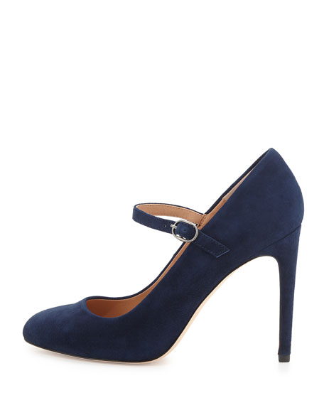 Carol Suede Mary Jane Pump, Navy