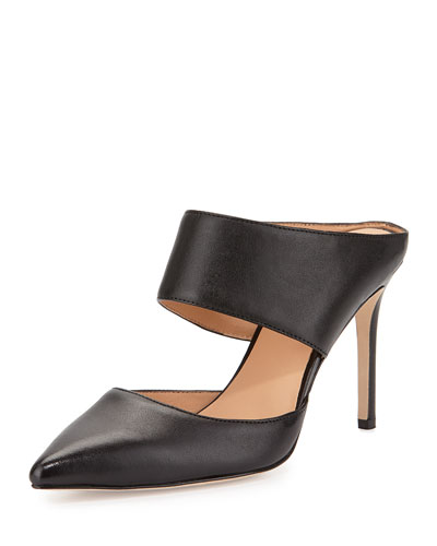 b994e9703aa2 Halston Heritage Isabella Leather Pointed-Toe Mule