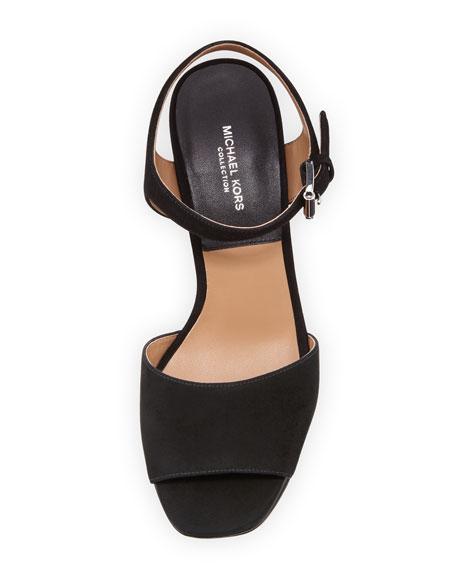Harley Suede Platform Sandal, Black