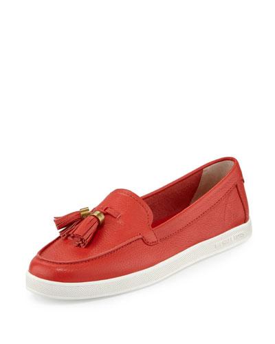 Callahan Leather Tassel Moccasin/Sneaker, Sienna