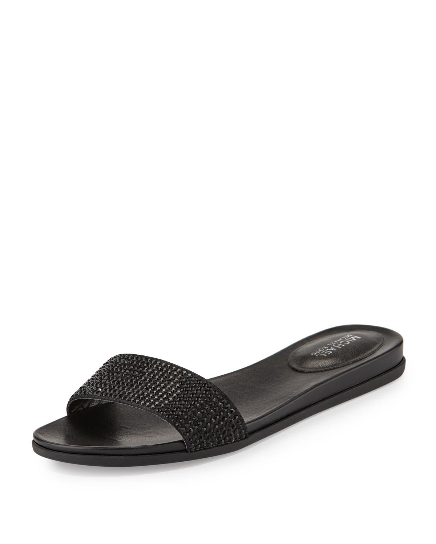 b42ac36249ff MICHAEL Michael Kors Eleanor Crystal Flat Slide Sandal