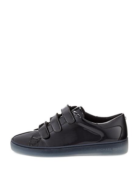 Craig Patent Grip-Strap Sneaker, Black