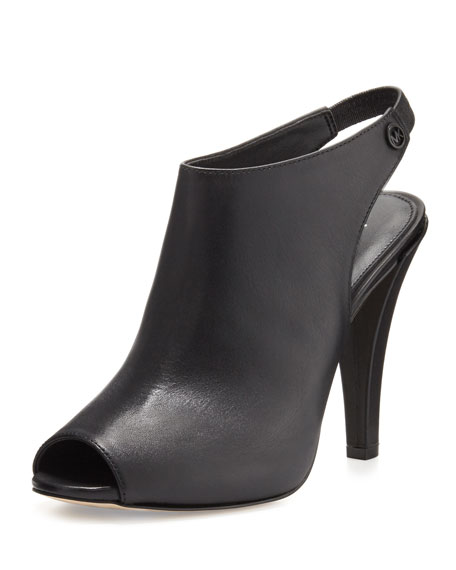 Ashby Leather Slingback Bootie, Black