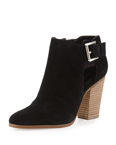 Adams Suede Buckle Bootie, Black