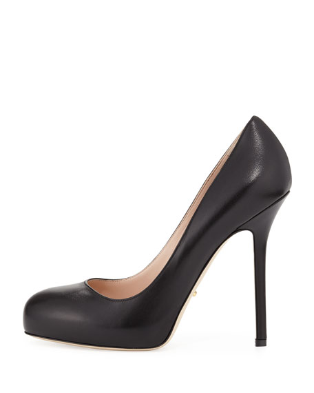 Barbie Platform Leather Pump, Black