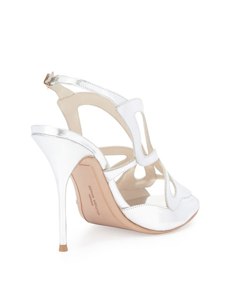 Madame Butterfly 100mm Sandal, Silver