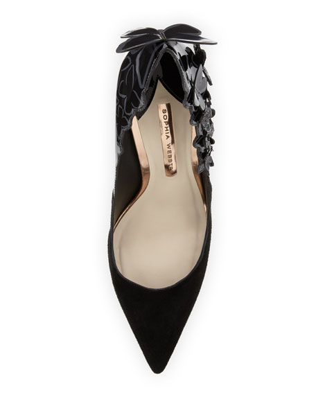 Harmony Suede 3D Butterfly Pump, Black