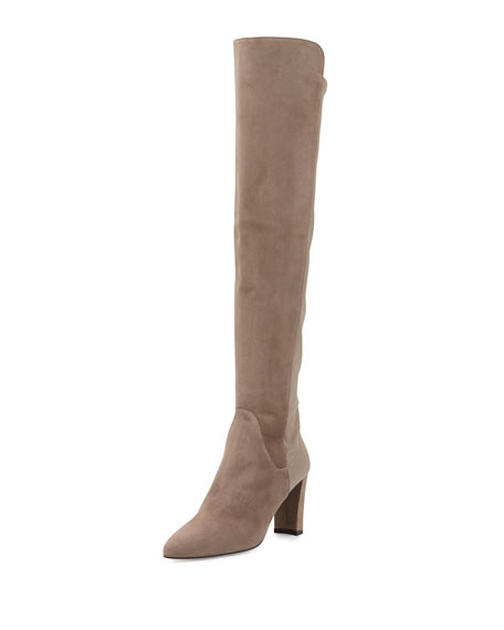 Stuart Weitzman Fiftymimi Suede Over-The-Knee Boot, Otter