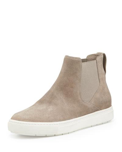 Newlyn Napa Leather High-Top Sneaker, Woodsmoke