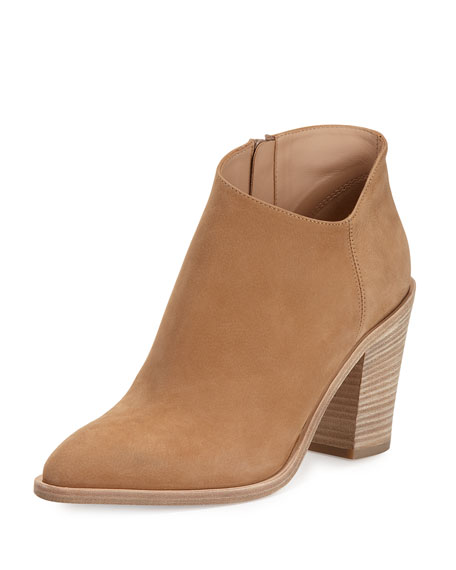 Vince Easton Asymmetric Nubuck 85mm Bootie, Sand