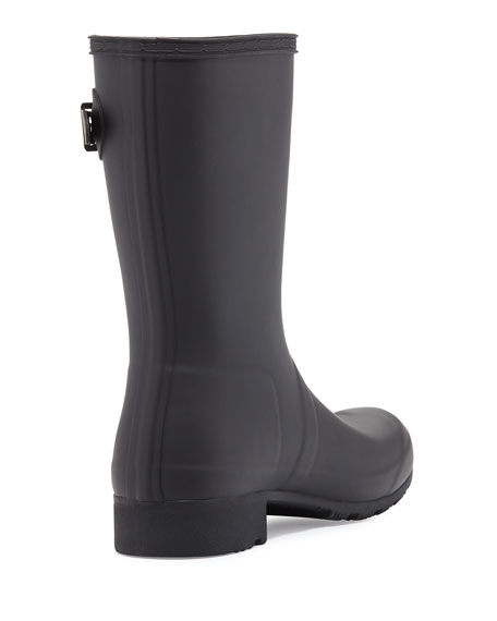 Original Tour Matte Short Rain Boot, Black
