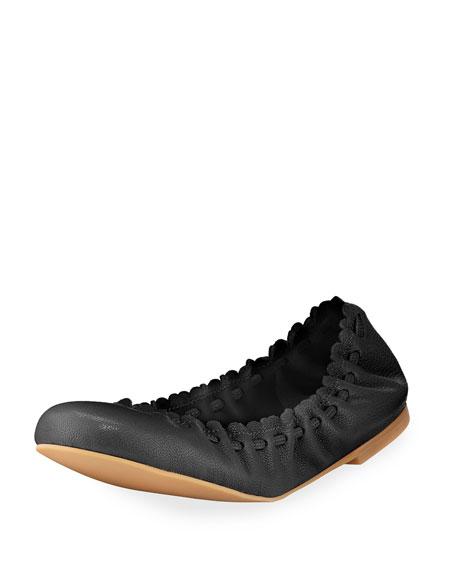 Chloé Jane Leather Ballet Flats 3z5Nlz3nU
